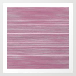 Bright Chalky Pastel Magenta Whitewashed Beach Hut Cladding Art Print
