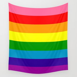 Rainbow Flag (Original Gay Pride Flag Colors) Wall Tapestry