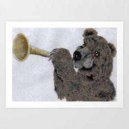 Bugle Bear Art Print