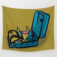 camp Wall Tapestries featuring Retro Swedish Camp Stove by mailboxdisco