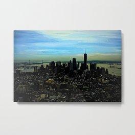 Artistic NYC Skyline Metal Print