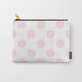 Geometric Orbital Circles In Pale Delicate Summer Fresh Pink & White Carry-All Pouch