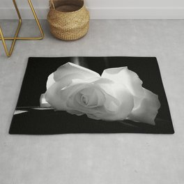 Black & White Rose Rug
