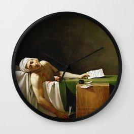 Jacques-Louis David's The Death of Marat Wall Clock