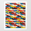 COLORED DOGS PATTERN 2 by happyplum