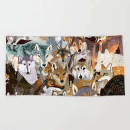 Wolves o´clock (Time to Wolf) Beach Towel