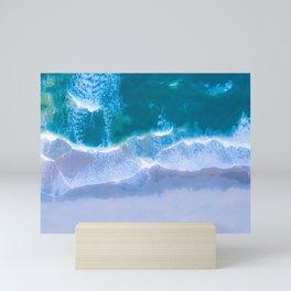 Emerald Blue Water Mini Art Print