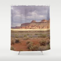 utah Shower Curtains featuring Expanse (Utah) by Danielle Hatfield