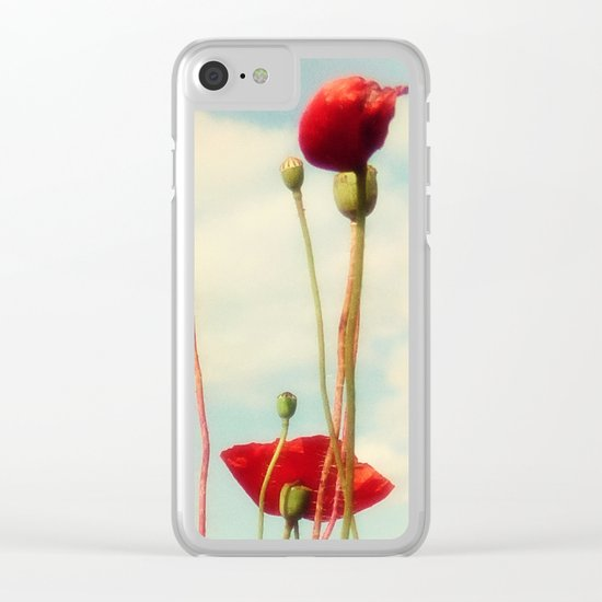 Lost Poppies Clear iPhone Case
