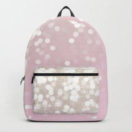 BLUSH GLITTER SPARKLE LIGHTS Backpack