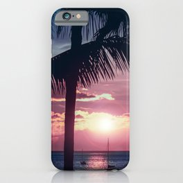 Maui Sunset Palms iPhone Case