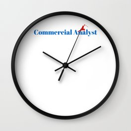 Top Commercial Analyst Wall Clock