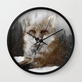 Fox Stare Wall Clock