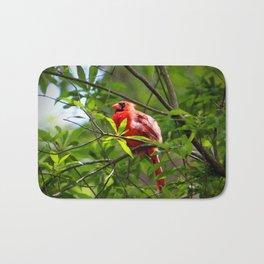 Male Cardinal Beauty Bath Mat