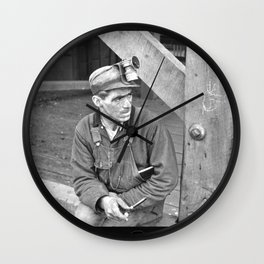 Kentucky Coal Miner Wall Clock