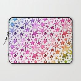 Rainbow Starfish Pattern Laptop Sleeve