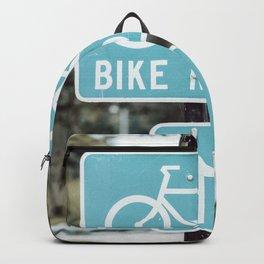 Bike Lane Sign Backpack