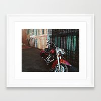 motorcycle Framed Art Prints featuring Motorcycle by Kathleen Robertson