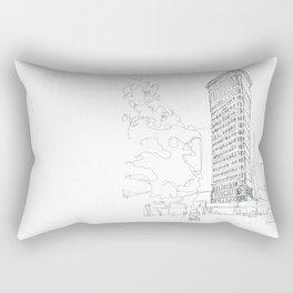 Flat Iron Building Rectangular Pillow