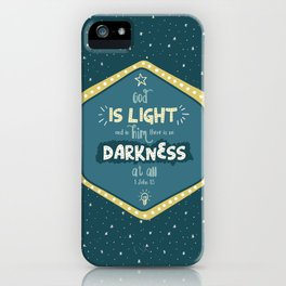 """""""God is Light"""" Hand-Lettered Bible Verse iPhone Case"""