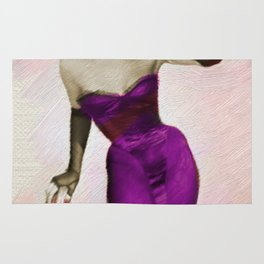 Vintage Pinup Digital Painting Rug