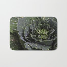 Green Bliss (3rd in Cabbage collection) Bath Mat