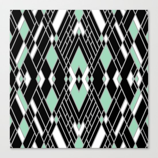 Art Deco Zoom Mint Canvas Print