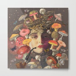 Mushroom Head Metal Print