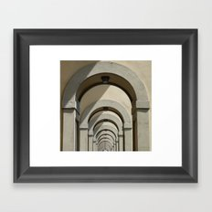 Florence archways Framed Art Print