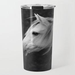 Arabian horse in black and white Travel Mug