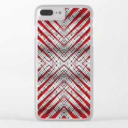Breeze Red - Optical Series 010 Clear iPhone Case