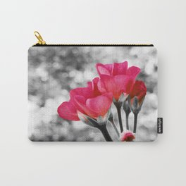 Pink FLOwERS Pop of Color Carry-All Pouch