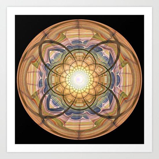 Groovy mandala with wild patterns Art Print