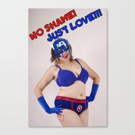 POW! No Shame Just Love Canvas Print