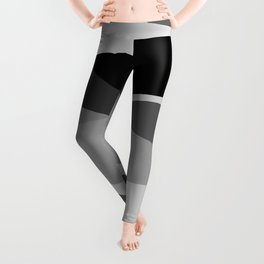 Gray and Pewter Waves Leggings