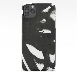 black on white 1 iPhone Case