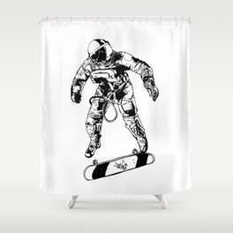 Astro-Skater Shower Curtain
