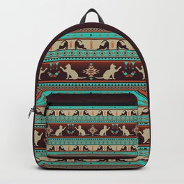 Boho cats | Domestic house cat sunset Backpack
