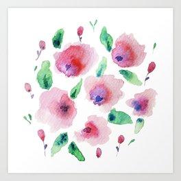 Pretty watercolor Art Print