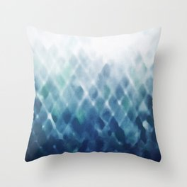 Diamond Fade in Blue Throw Pillow