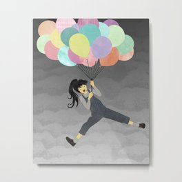 Balloon Ride Metal Print