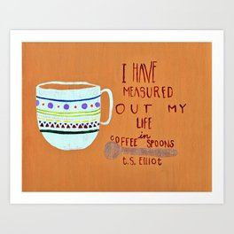 Coffee Spoons Art Print