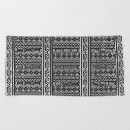 Charcoal Grey African Mudcloth Beach Towel