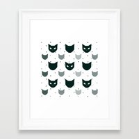 because cats Framed Art Prints featuring Cats Cats Cats by Be Kindly