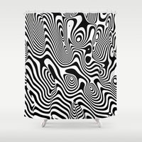 trippy Shower Curtains featuring Trippy Background by Danny Ivan