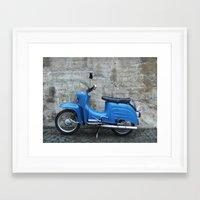 vespa Framed Art Prints featuring Vespa by Fabian Bross