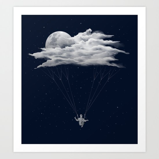 Skydiving Art Print