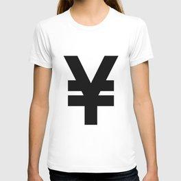 Yen Sign (Black & White) T-shirt