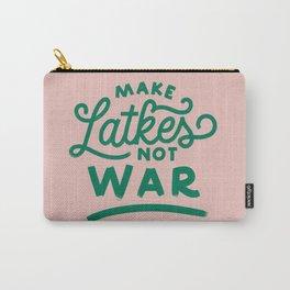 Make Latkes Not War Carry-All Pouch
