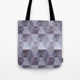 Shiny silver metal embossed surface Tote Bag